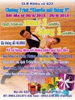 Chào mừng Quốc khánh 02/9, CLB Khiêu vũ 622 tổ chức các chương trình khuyến mãi đặc biệt.